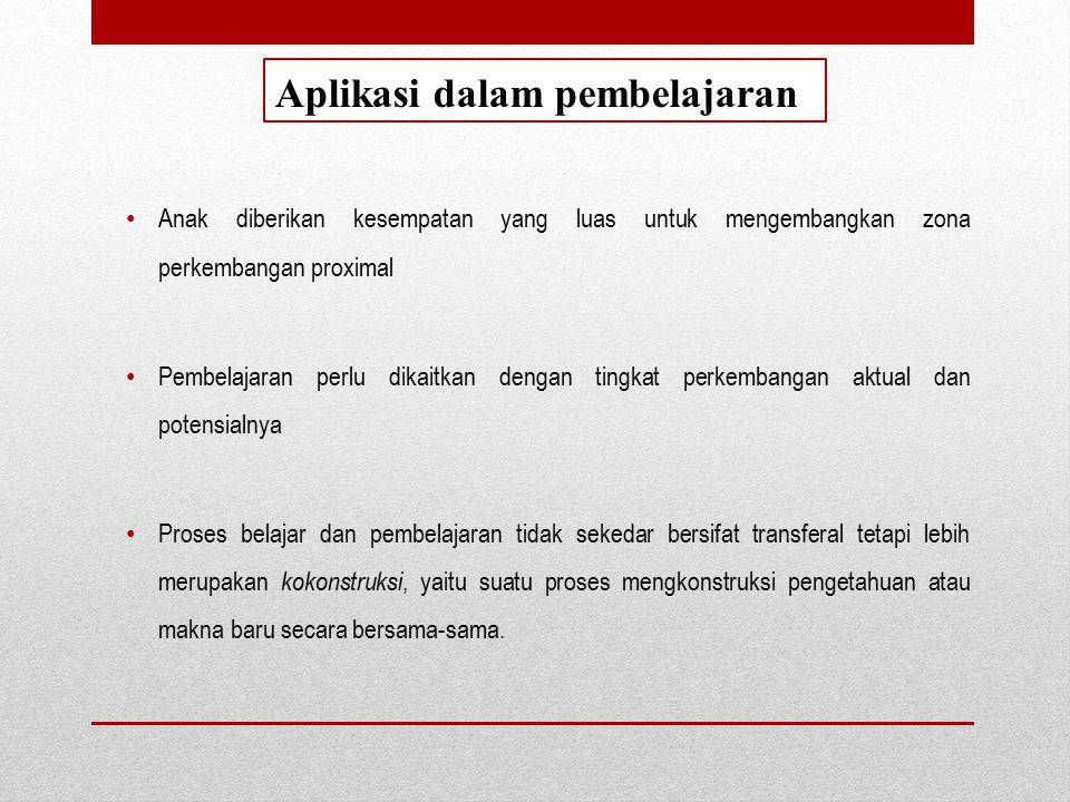 Aplikasi dalam pembelajaran