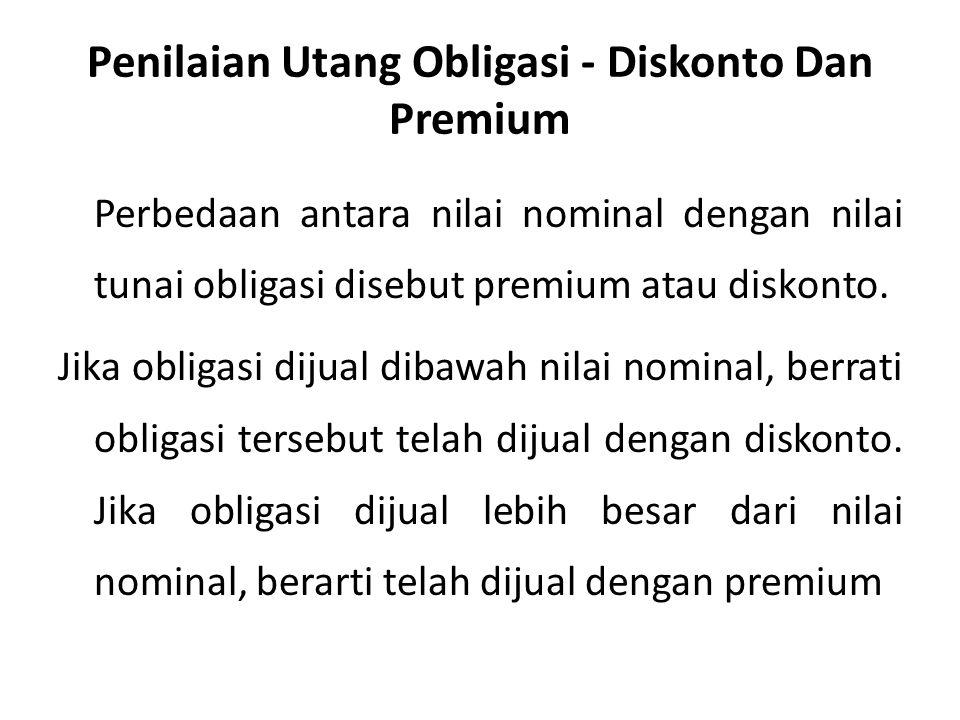 Penilaian Utang Obligasi - Diskonto Dan Premium