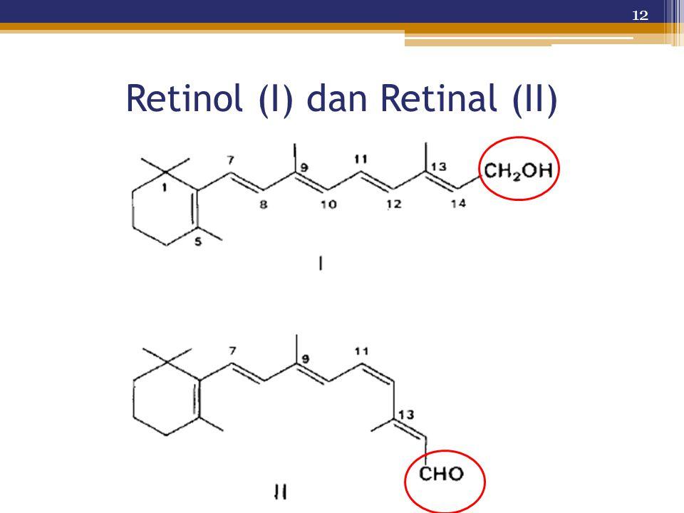 Retinol (I) dan Retinal (II)