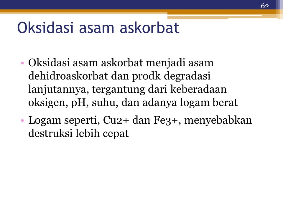 Oksidasi asam askorbat