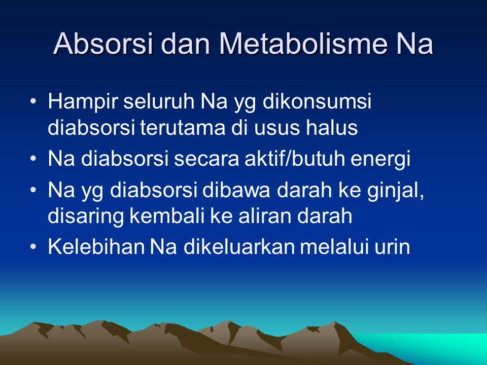 Absorsi dan Metabolisme Na