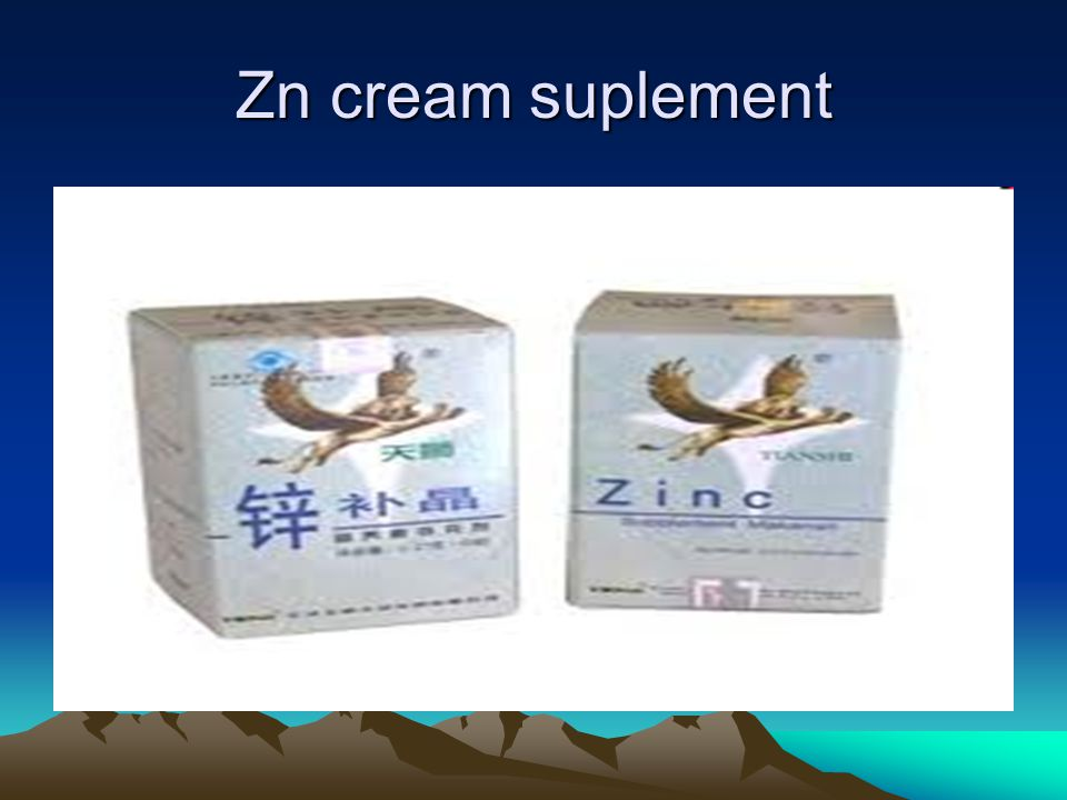 Zn cream suplement
