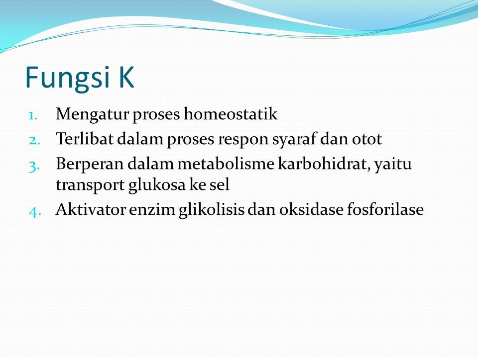 Fungsi K Mengatur proses homeostatik