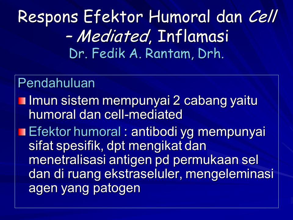 Respons Efektor Humoral dan Cell – Mediated, Inflamasi Dr. Fedik A