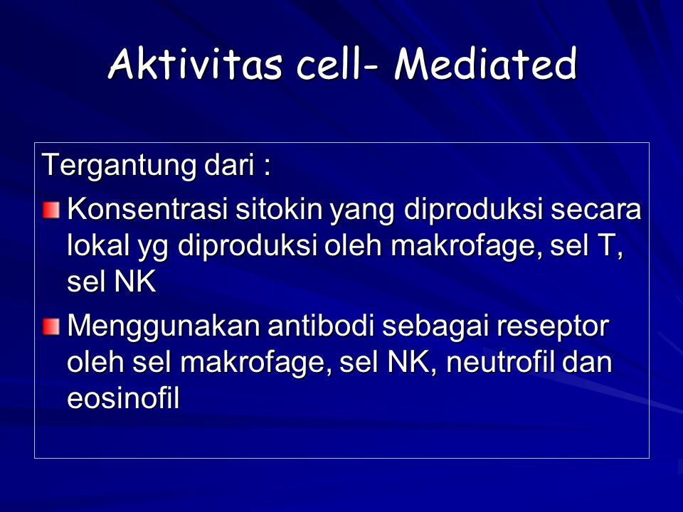 Aktivitas cell- Mediated