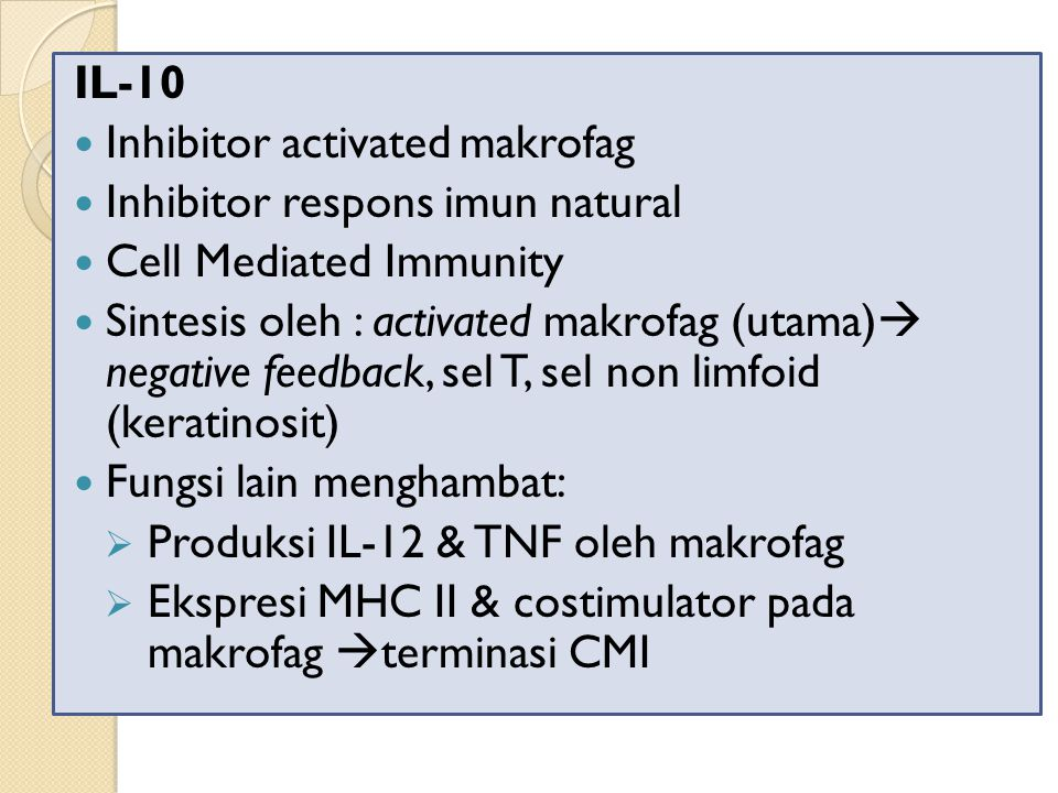 IL-10 Inhibitor activated makrofag. Inhibitor respons imun natural. Cell Mediated Immunity.