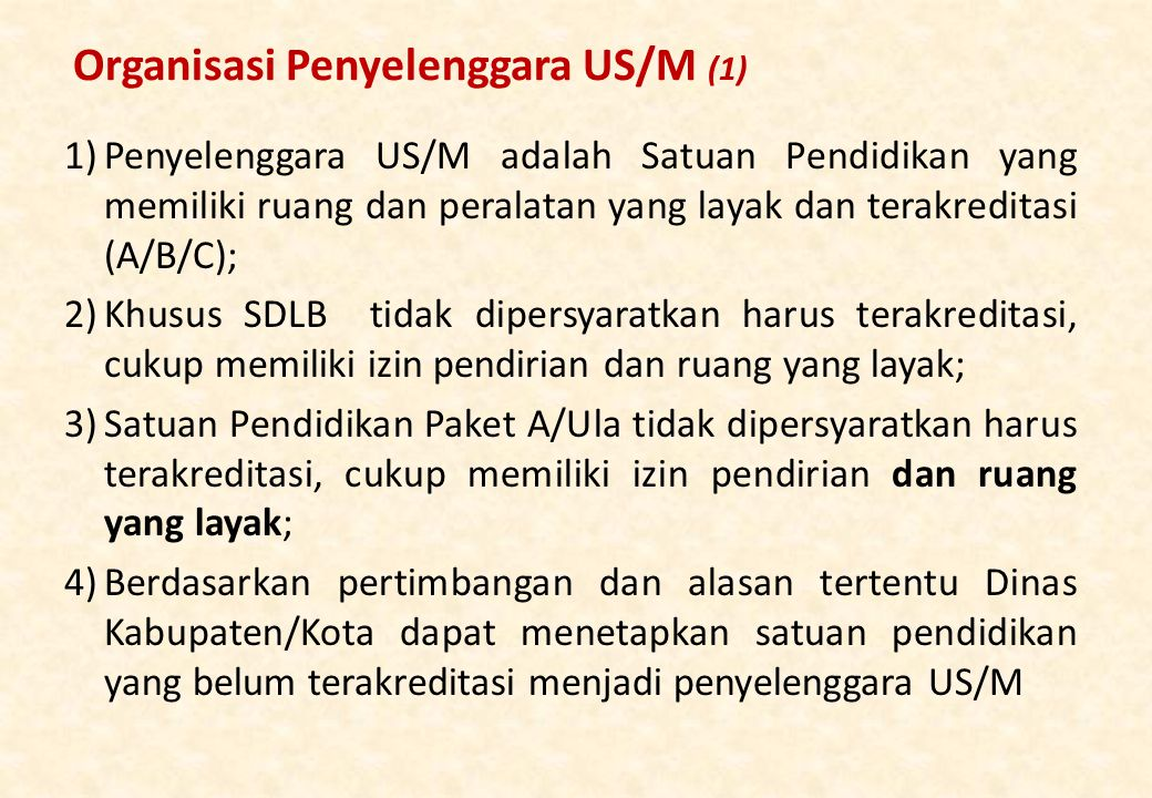 Organisasi Penyelenggara US/M (1)