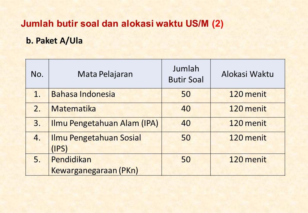 Jumlah butir soal dan alokasi waktu US/M (2)