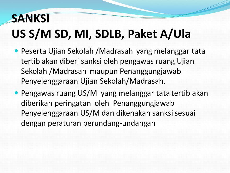 US S/M SD, MI, SDLB, Paket A/Ula