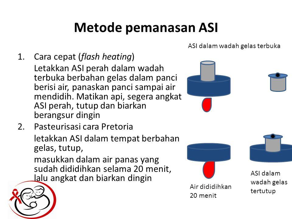 Metode pemanasan ASI Cara cepat (flash heating)
