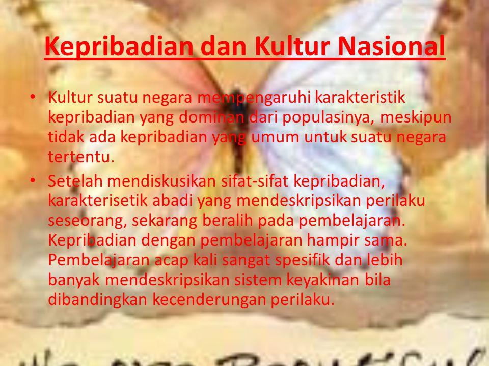 Kepribadian dan Kultur Nasional