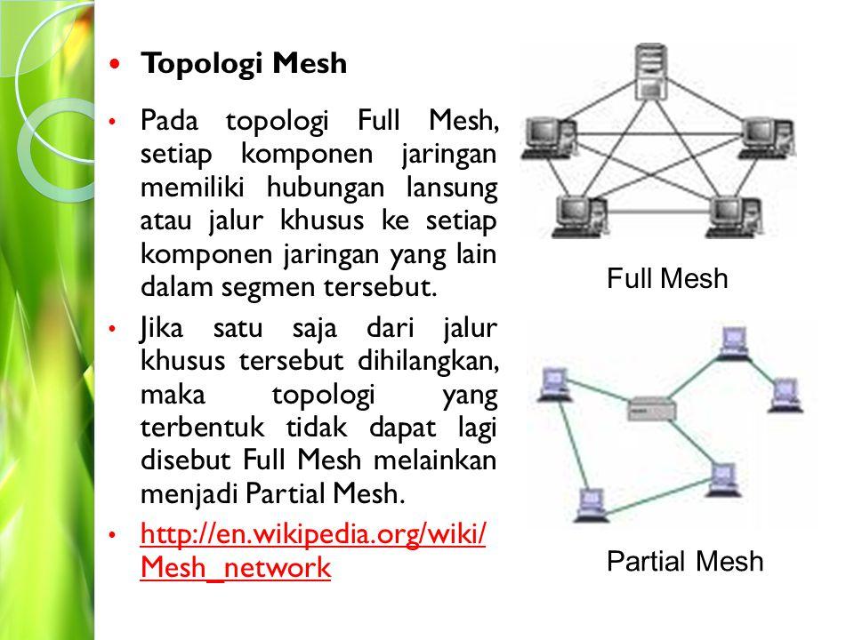 http://en.wikipedia.org/wiki/ Mesh_network