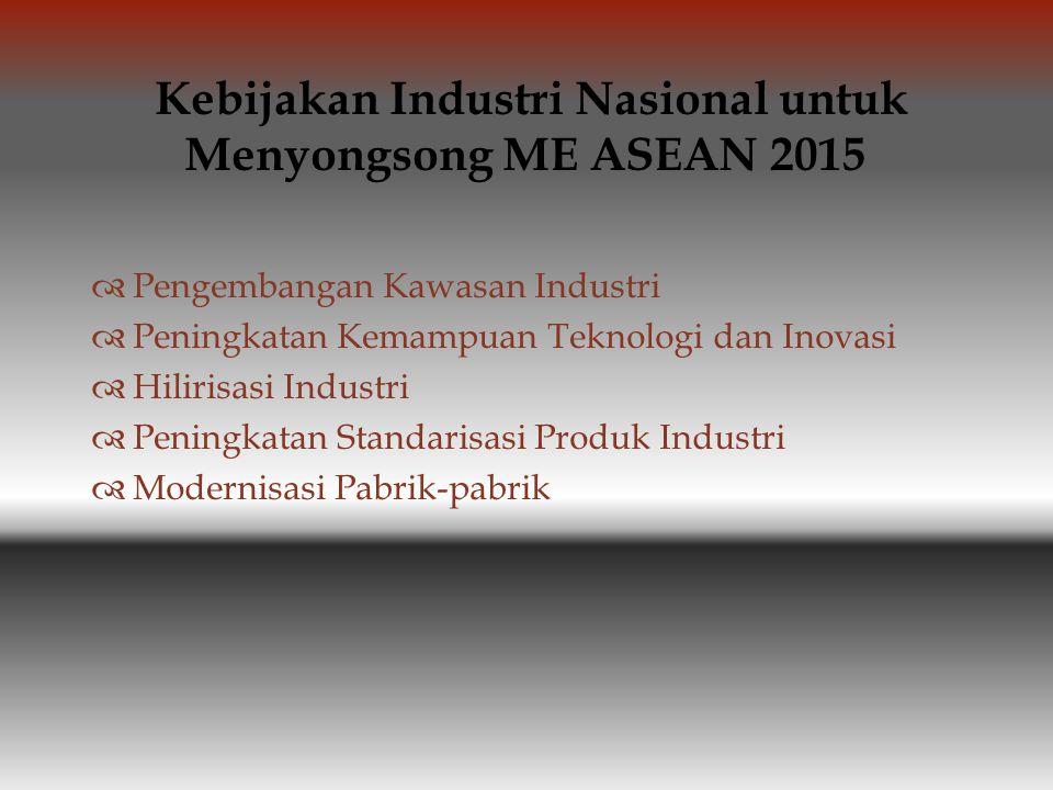 Kebijakan Industri Nasional untuk Menyongsong ME ASEAN 2015