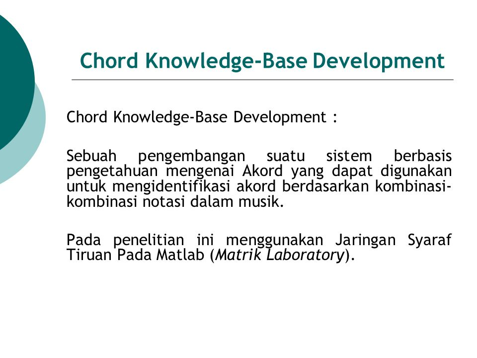 Chord Knowledge-Base Development