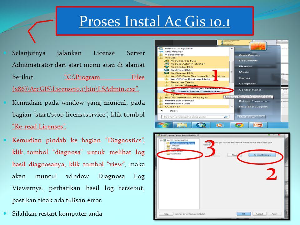 Proses Instal Ac Gis 10.1 1. 2. 3.