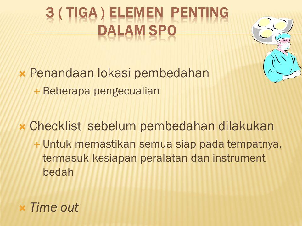 3 ( tiga ) Elemen penting dalam SPO