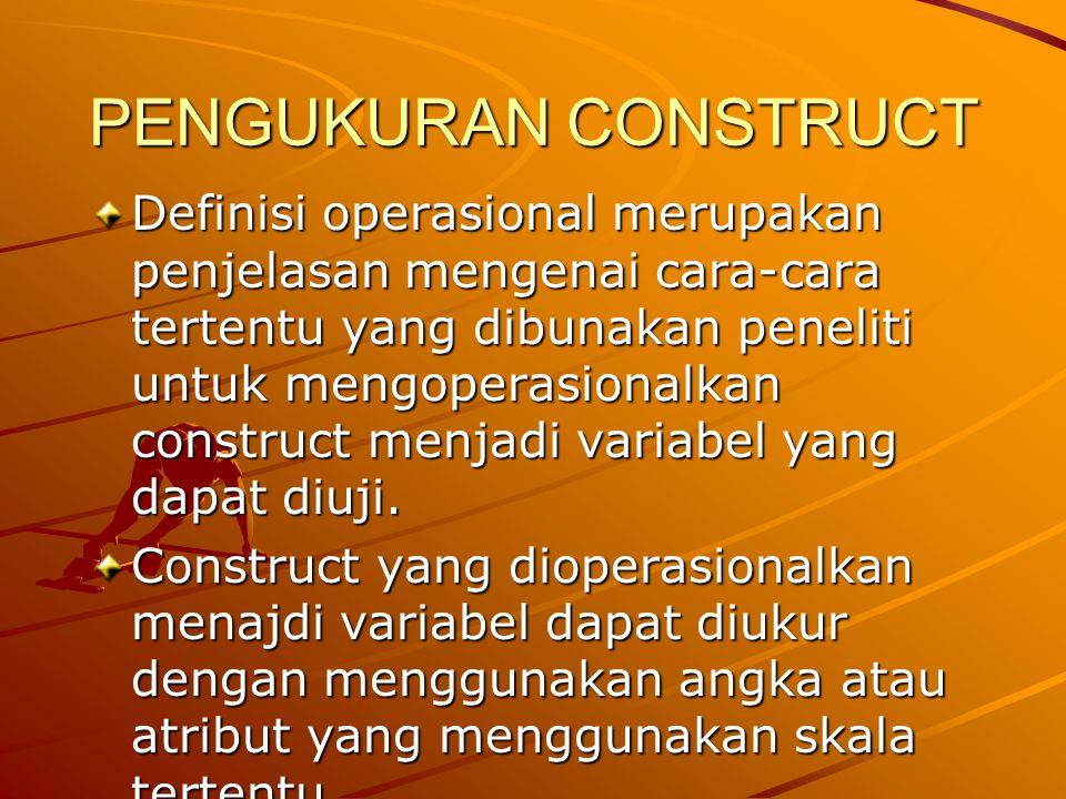 PENGUKURAN CONSTRUCT