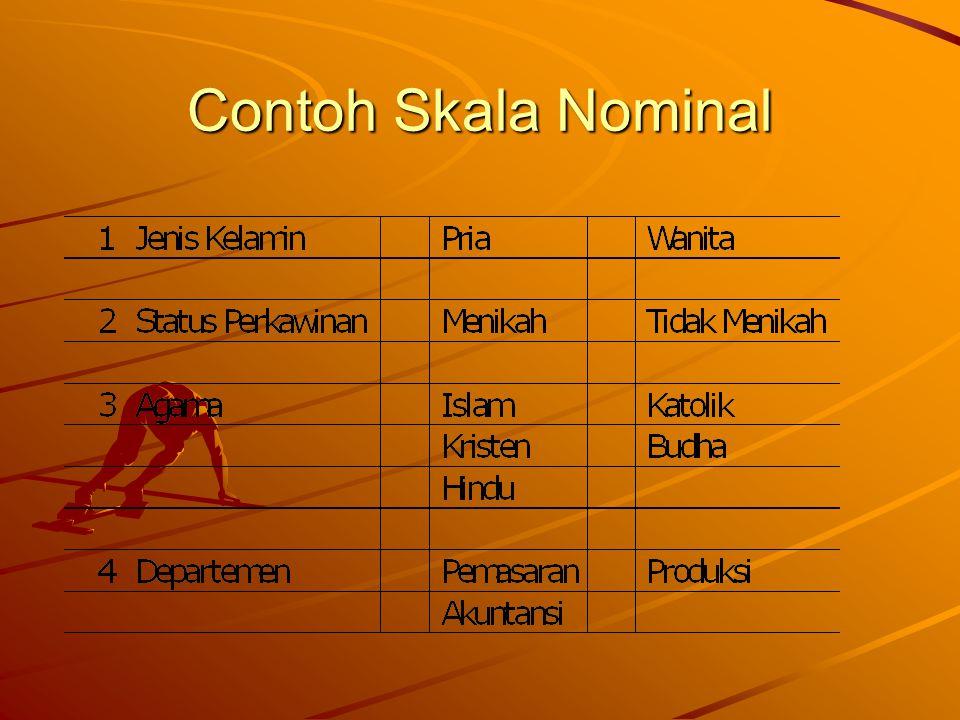 Contoh Skala Nominal