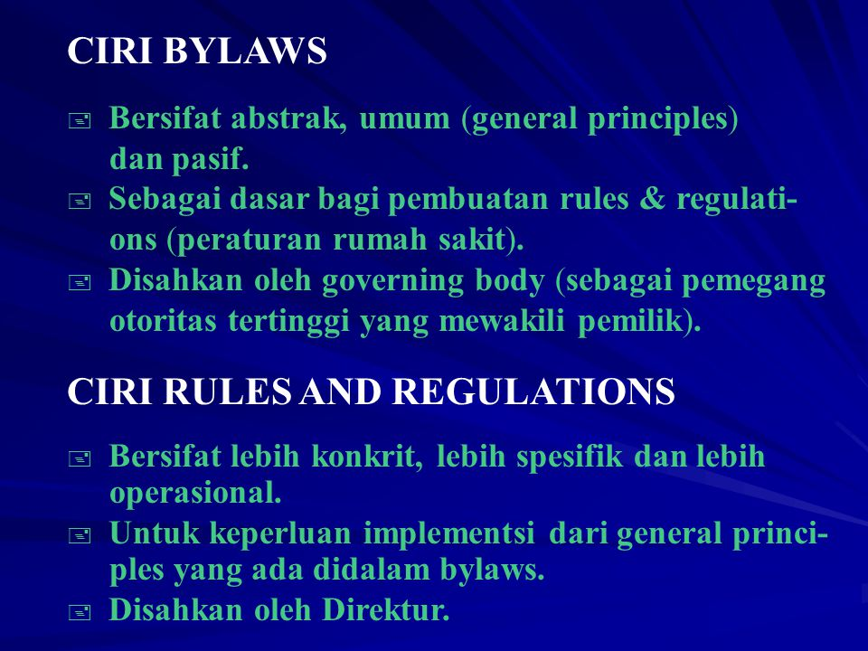 CIRI RULES AND REGULATIONS