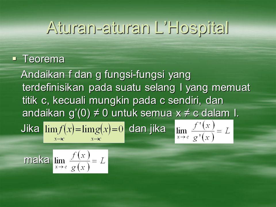 Aturan-aturan L'Hospital