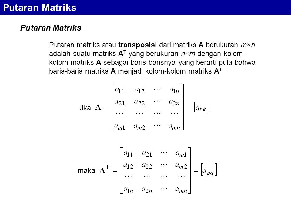 Putaran Matriks Putaran Matriks