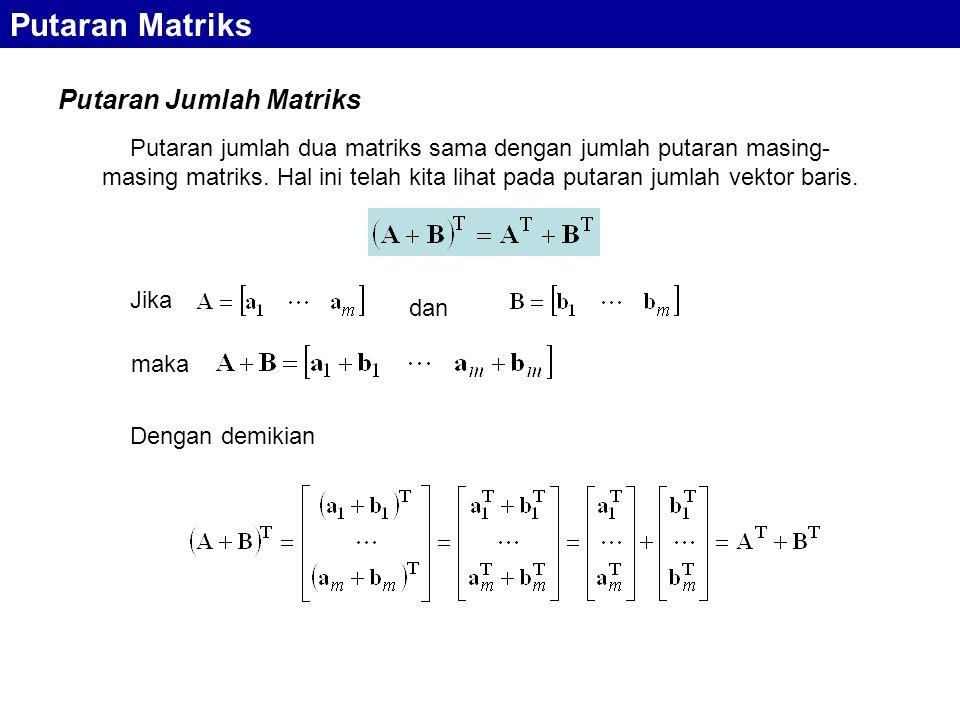 Putaran Matriks Putaran Jumlah Matriks