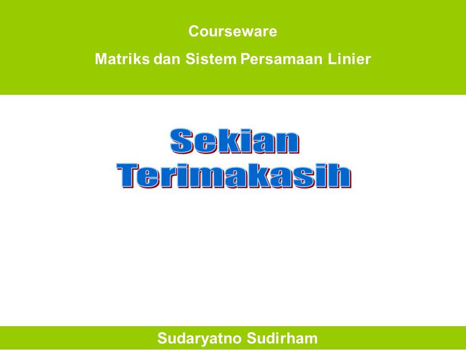 Matriks dan Sistem Persamaan Linier