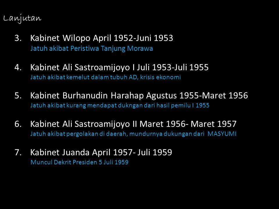 Kabinet Wilopo April 1952-Juni 1953