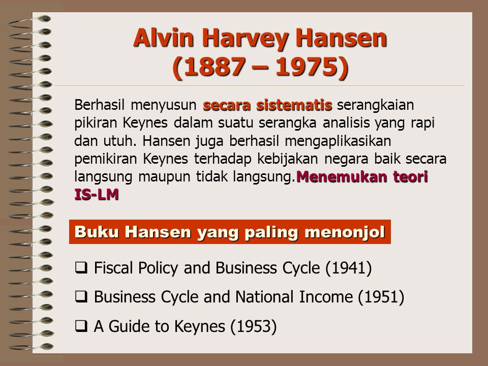 Alvin Harvey Hansen (1887 – 1975)