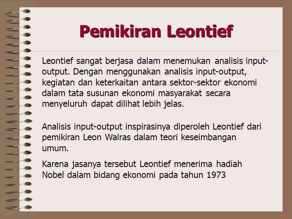 Pemikiran Leontief