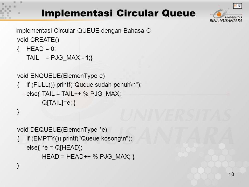 Implementasi Circular Queue