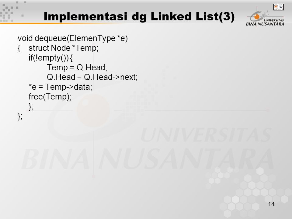 Implementasi dg Linked List(3)