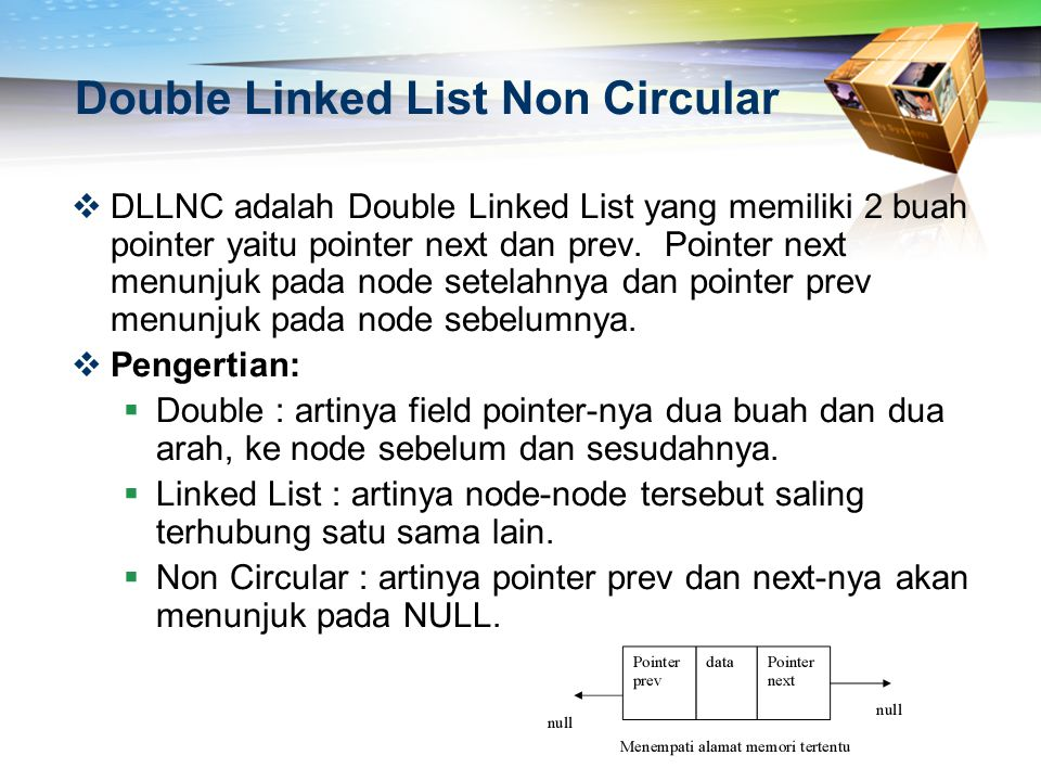 Double Linked List Non Circular