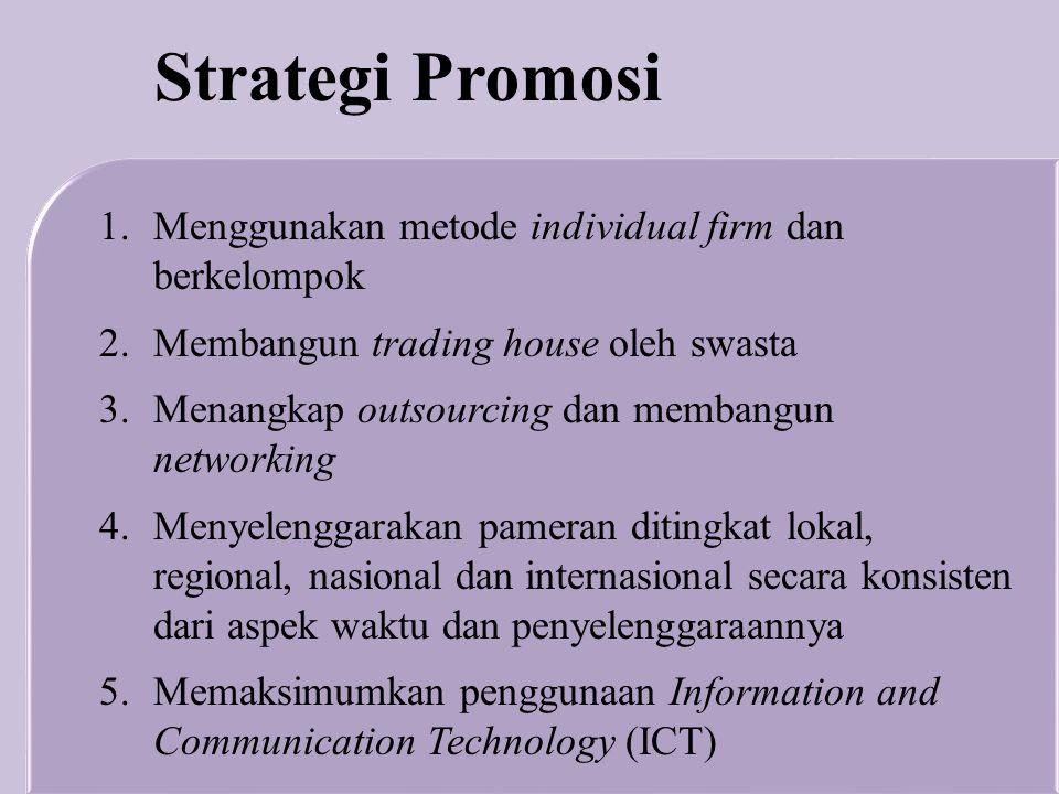 Strategi Promosi Menggunakan metode individual firm dan berkelompok