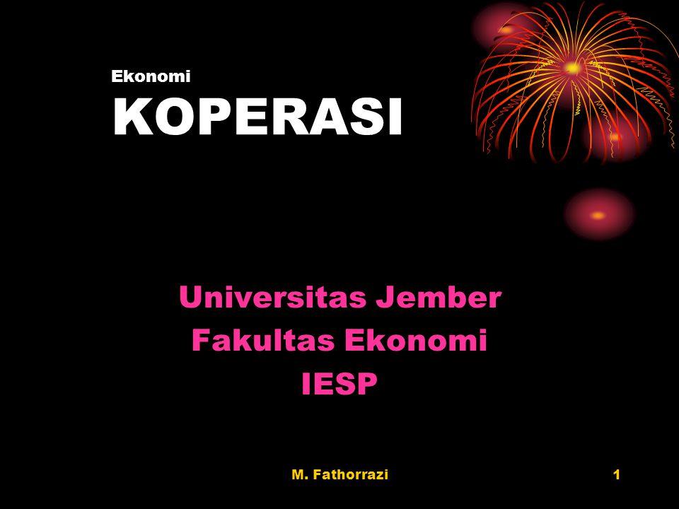 Universitas Jember Fakultas Ekonomi IESP Ekonomi KOPERASI