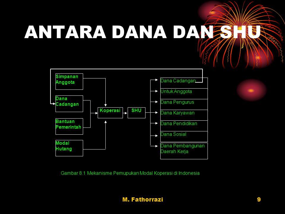 Gambar 8.1 Mekanisme Pemupukan Modal Koperasi di Indonesia
