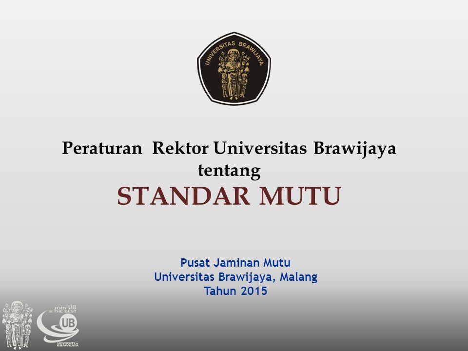 Peraturan Rektor Universitas Brawijaya Universitas Brawijaya, Malang