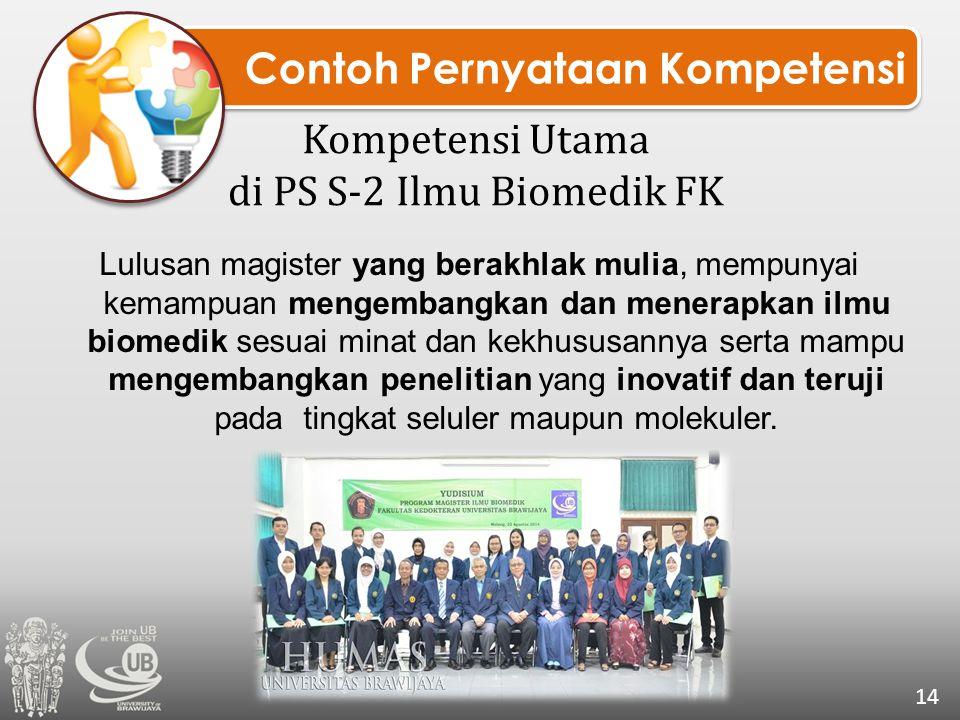 Kompetensi Utama di PS S-2 Ilmu Biomedik FK