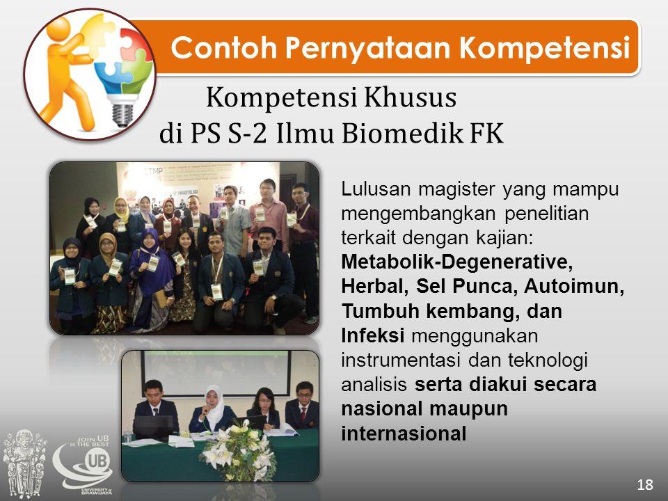 Kompetensi Khusus di PS S-2 Ilmu Biomedik FK