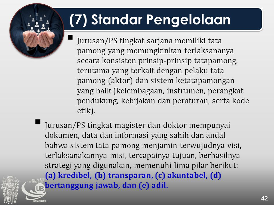 (7) Standar Pengelolaan