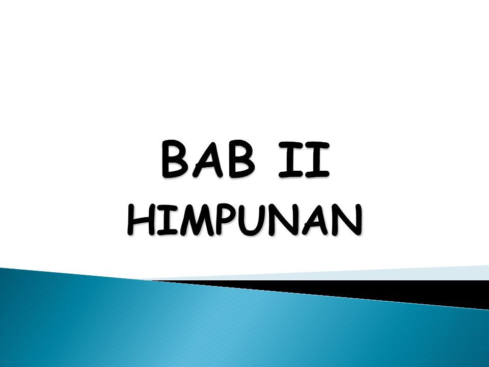 BAB II HIMPUNAN