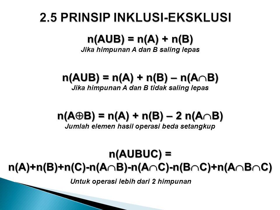 2.5 PRINSIP INKLUSI-EKSKLUSI