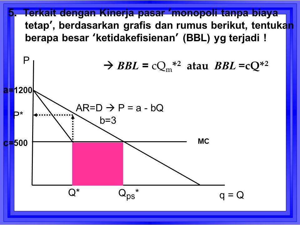  BBL = cQm*2 atau BBL =cQ*2