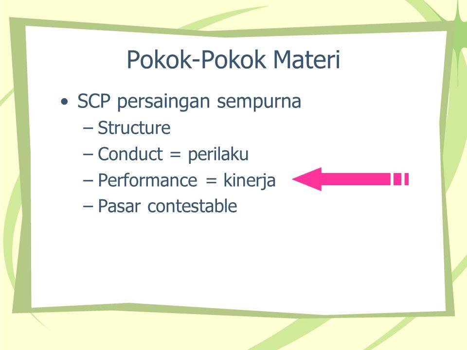 Pokok-Pokok Materi SCP persaingan sempurna Structure