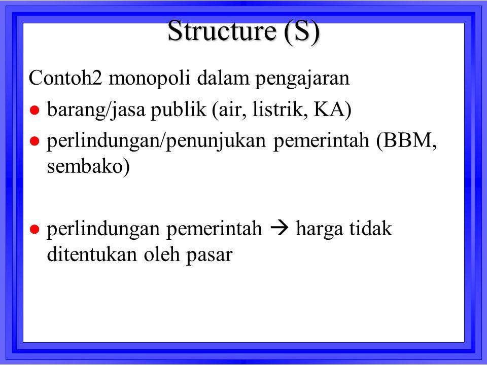Structure (S) Contoh2 monopoli dalam pengajaran