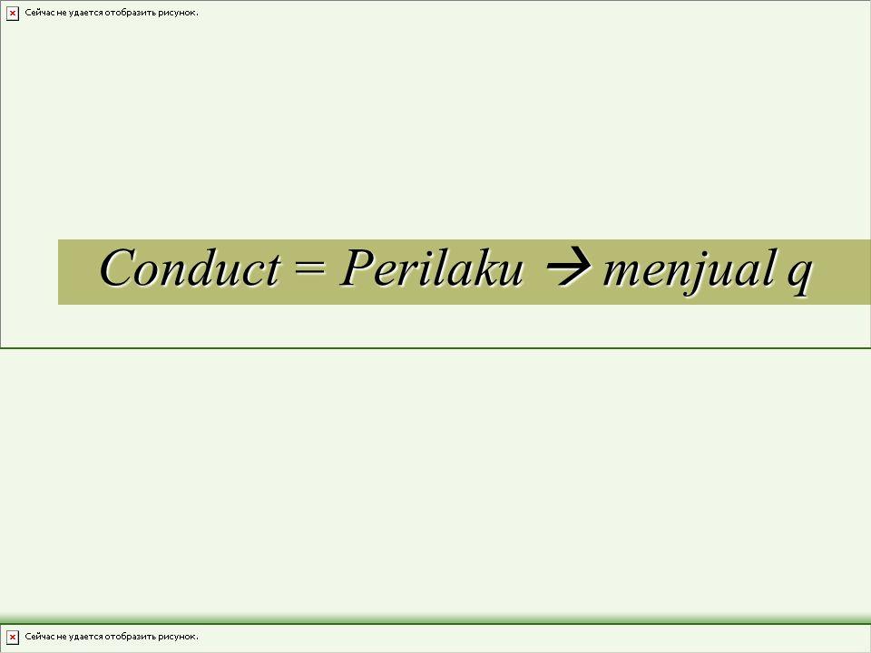 Conduct = Perilaku  menjual q