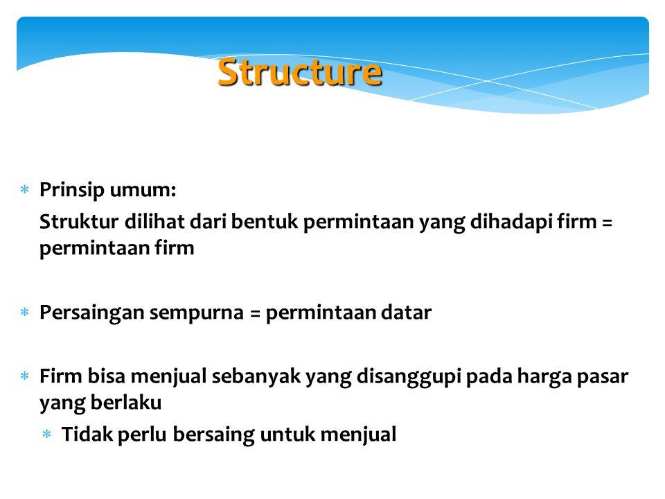 Structure Prinsip umum: