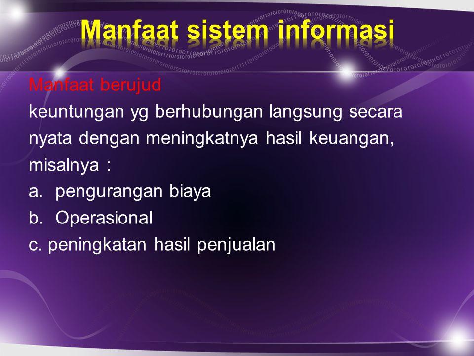 Manfaat sistem informasi