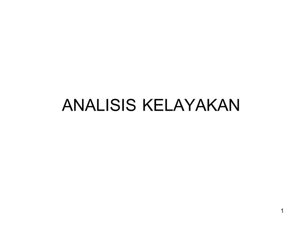 ANALISIS KELAYAKAN