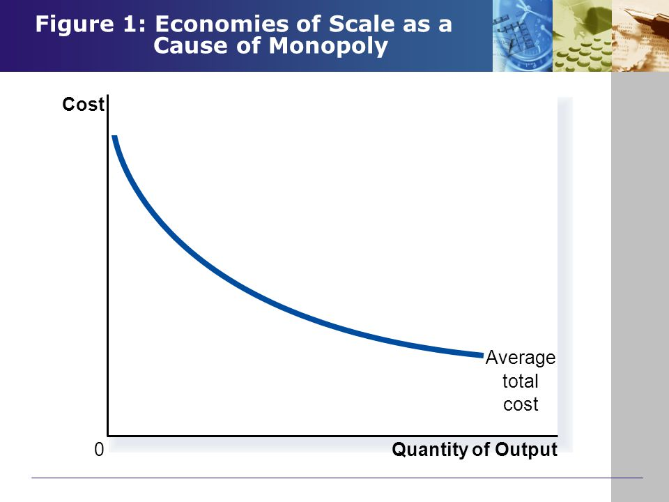 Figure 1: Economies of Scale as a Cause of Monopoly